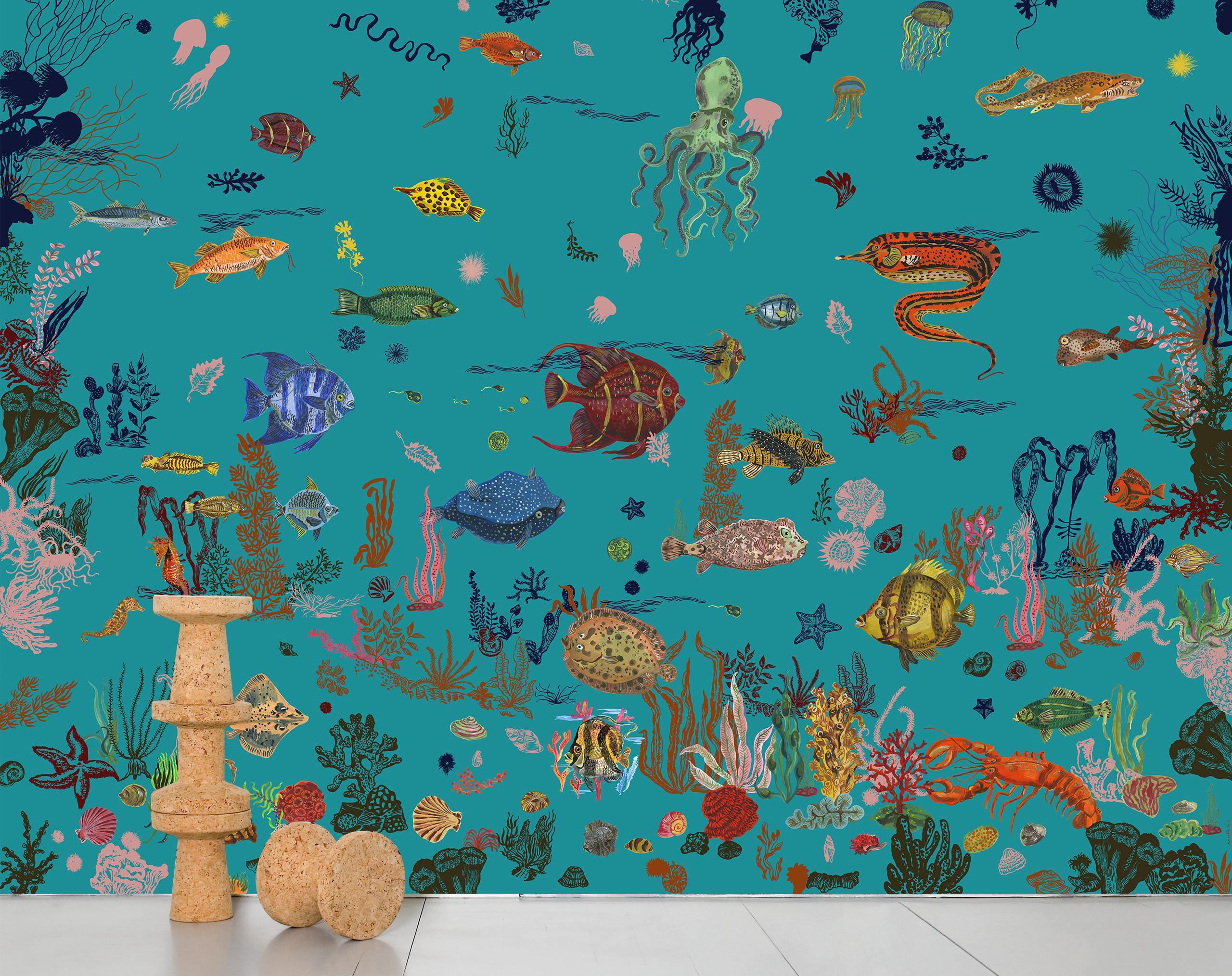 Sous la mer - blue