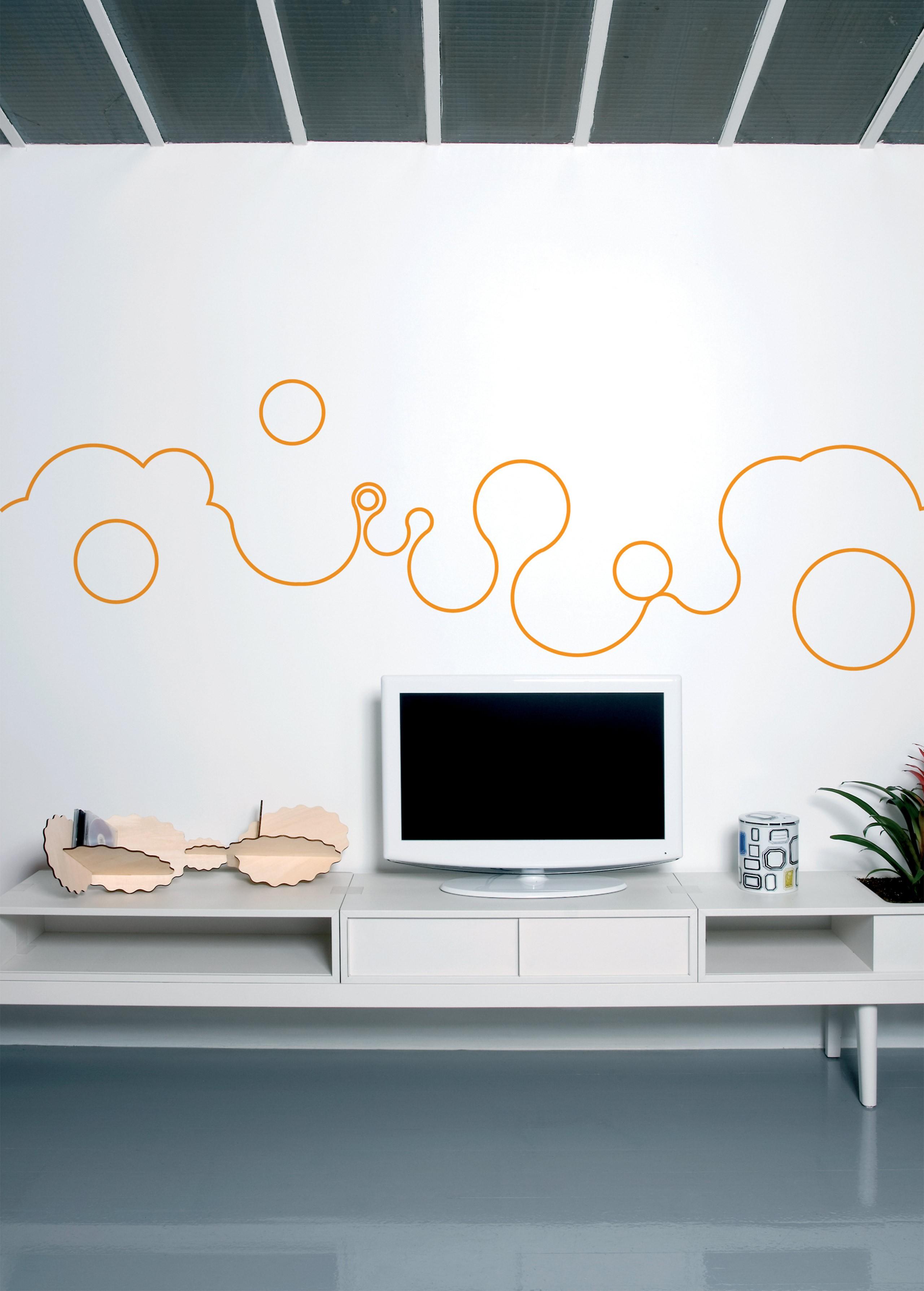 Bubble line orange