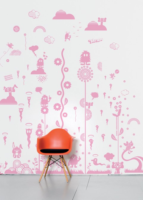 Mushroom forest pink