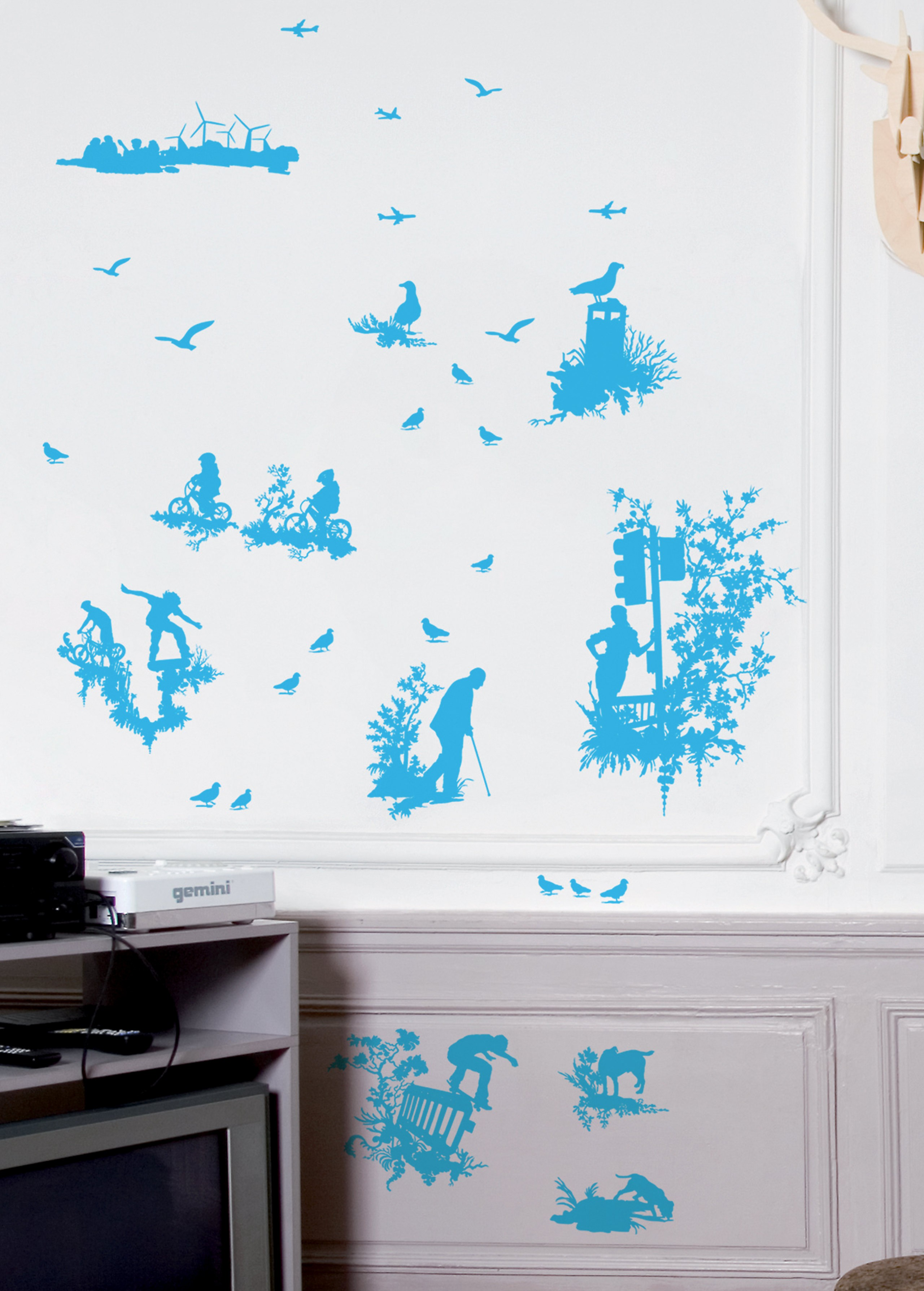 Silhouette toile light blue