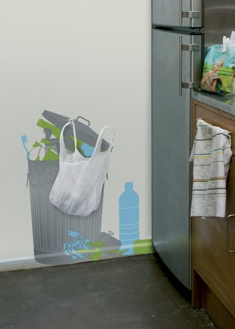 Vinyl + plastic bag