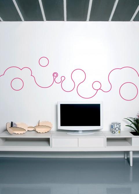 Bubble line magenta