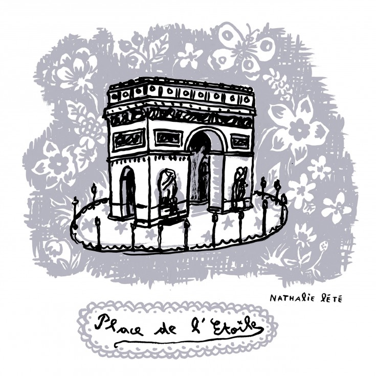 stickers nathalie l t place de l 39 etoile domestic. Black Bedroom Furniture Sets. Home Design Ideas