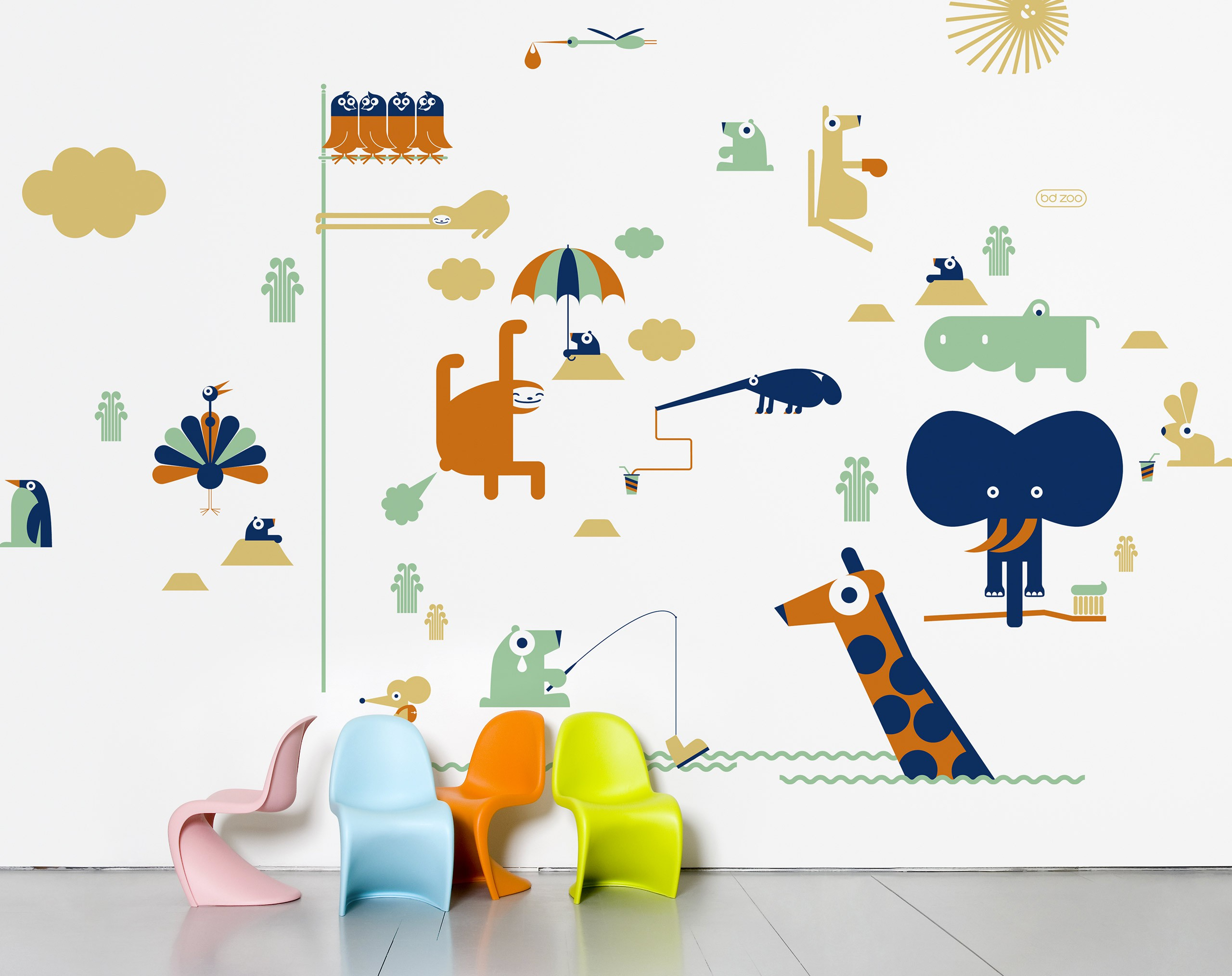 zoo wall stickers images