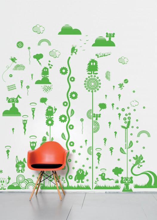 Mushroom forest green