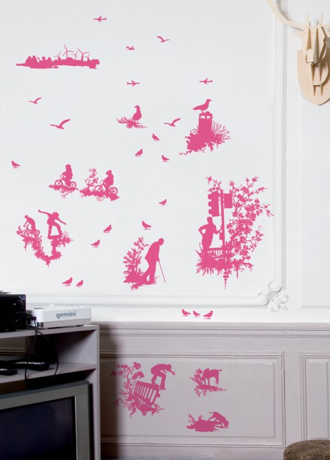 Silhouette toile pink