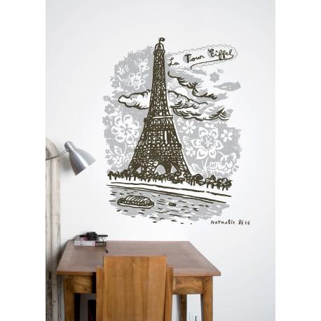 stickers nathalie l t la tour eiffel domestic. Black Bedroom Furniture Sets. Home Design Ideas
