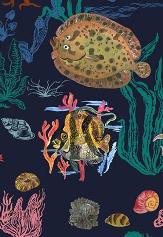 Sous la mer - navy bl